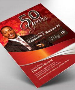 Best Pastor Anniversary Flyer Template Excel