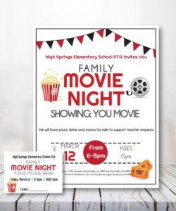 Best School Movie Night Flyer Template Doc Example