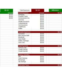 Costum Personal Biweekly Budget Template  Sample