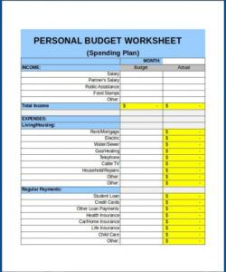 Costum Personal Budget Planning Template  Sample