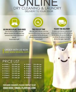 Dry Cleaners Marketing Flyer Template Word Example