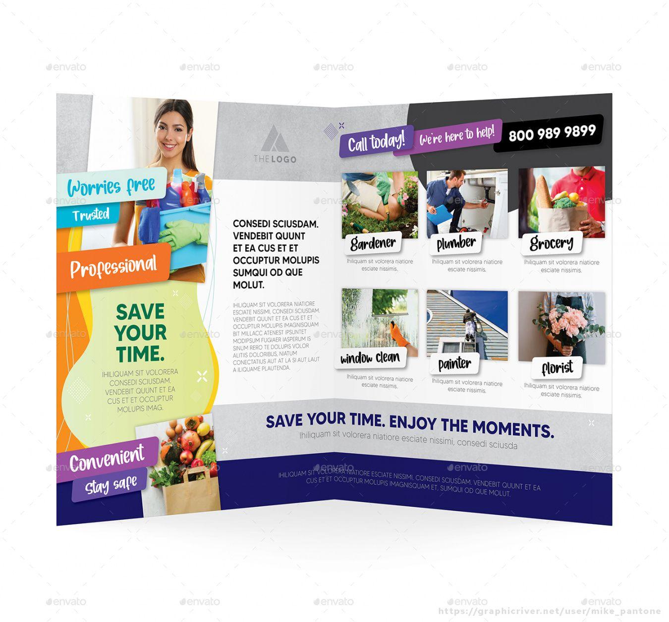 Editable Errand Service Flyer Template Doc Sample