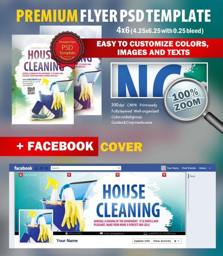 Editable Janitorial Service Flyer Template Excel Example