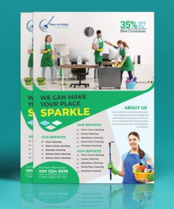 Editable Janitorial Service Flyer Template Pdf Sample