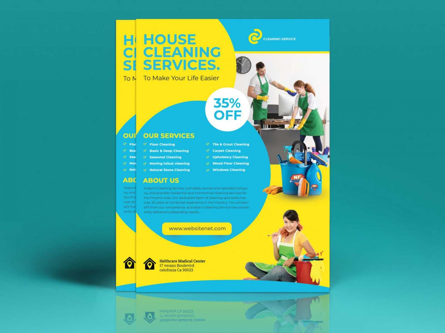 Editable Janitorial Service Flyer Template Pdf