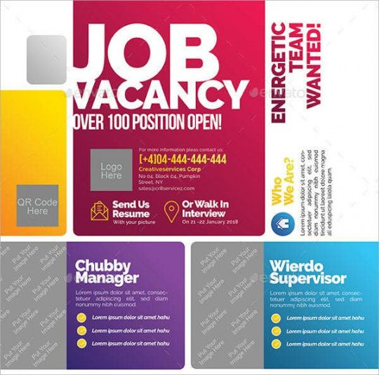 Editable Job Announcement Flyer Template Word Example