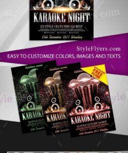 Editable Karaoke Flyer Template  Example