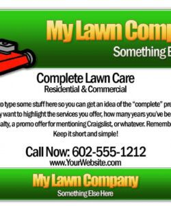 Editable Lawn Mowing Flyer Template  Sample