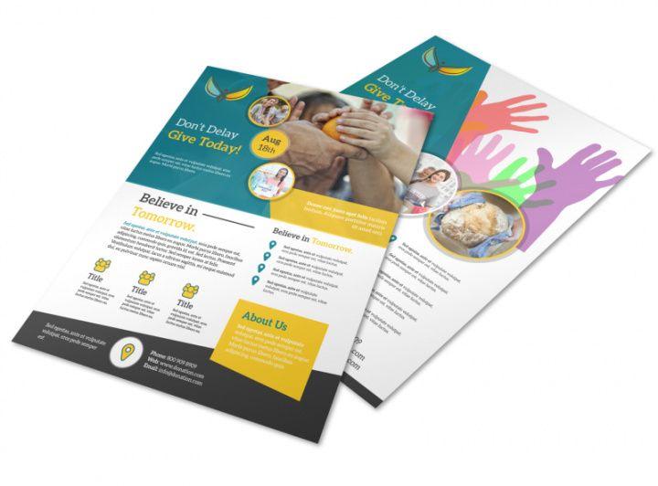 Editable Pet Food Drive Flyer Template Excel Sample