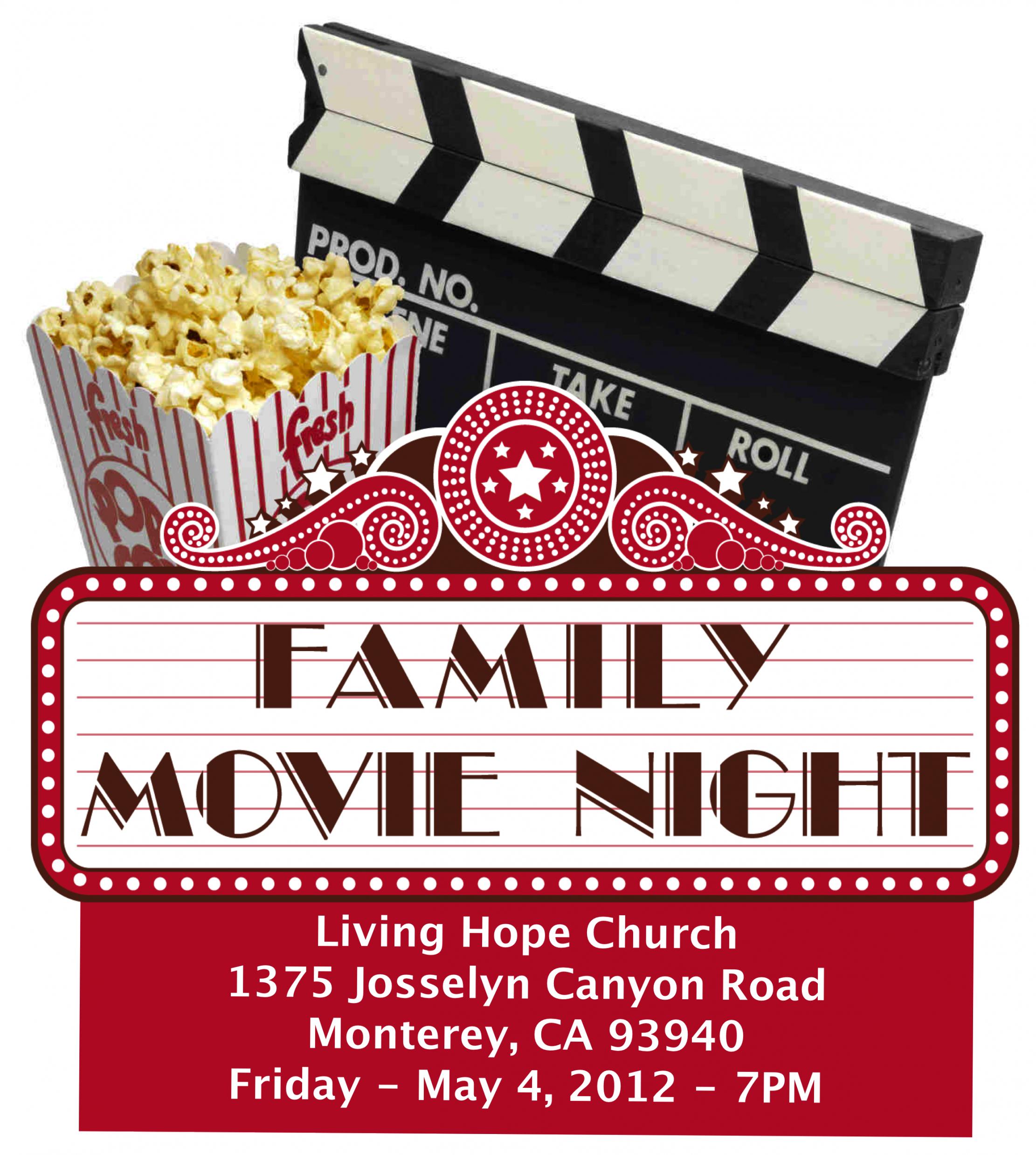 Editable School Movie Night Flyer Template Excel