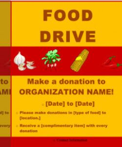 Editable Thanksgiving Food Drive Flyer Template Doc Example
