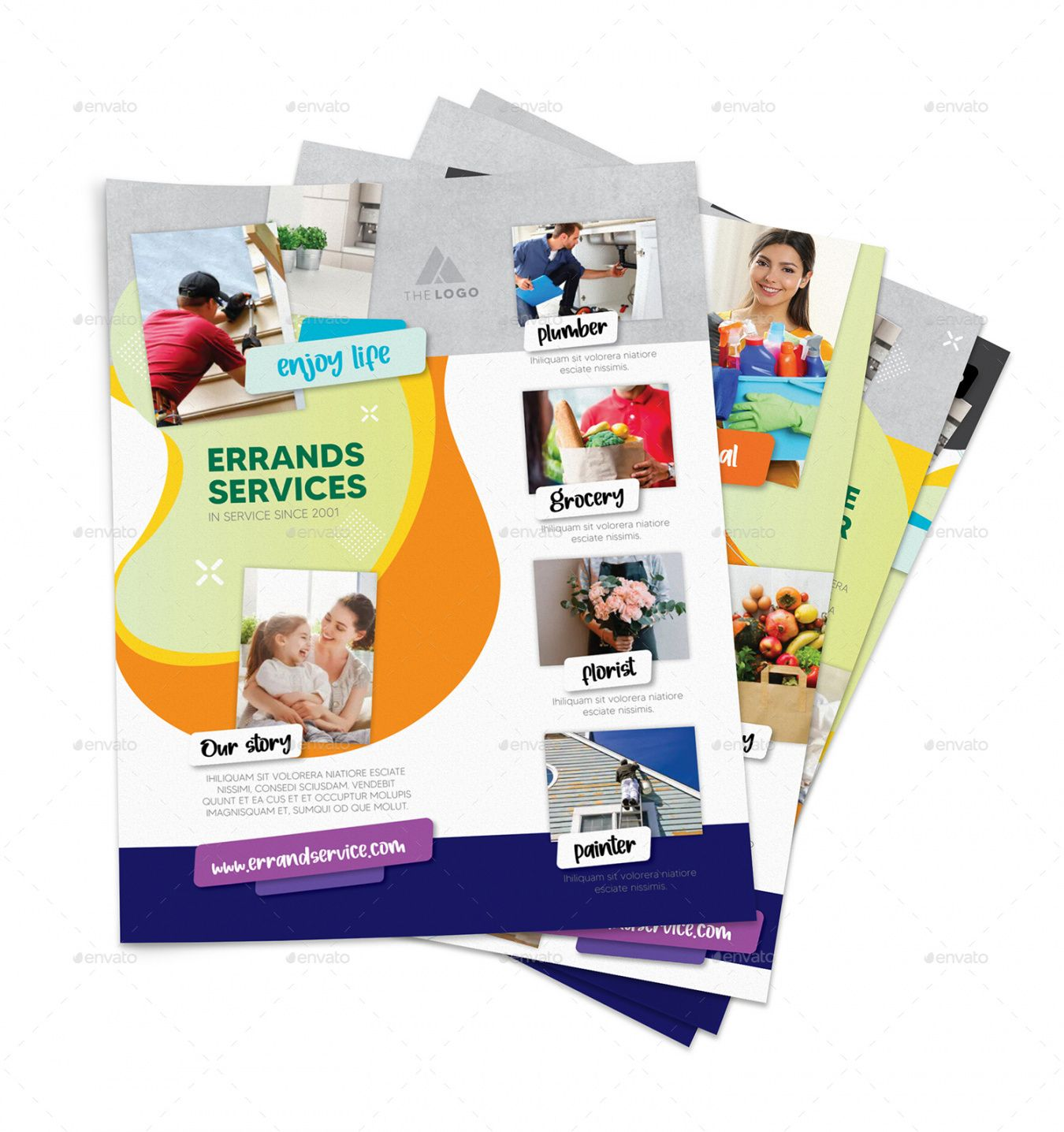 Errand Service Flyer Template Word Example