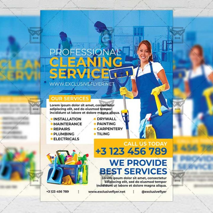 Free Janitorial Service Flyer Template Word Example