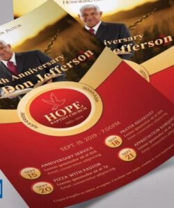 Free Pastor Anniversary Flyer Template Excel