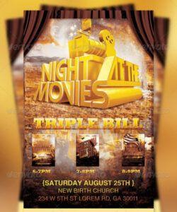 Free School Movie Night Flyer Template Excel