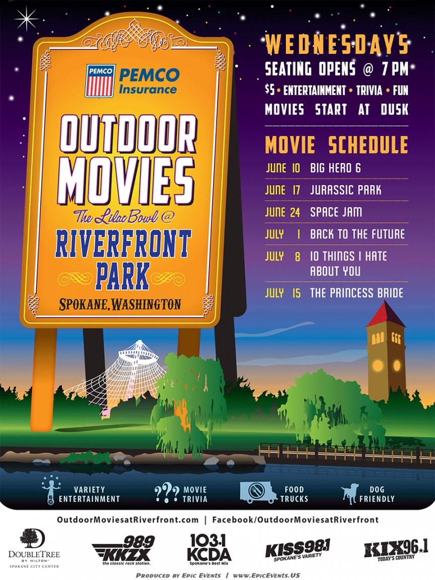 Free Summer Movie Night Flyer Template Doc Sample