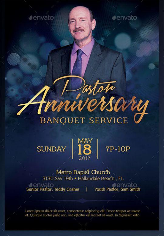 Pastor Anniversary Flyer Template Doc