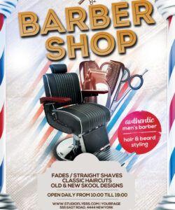 Printable Barber Shop Flyer Template Pdf