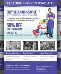 Printable Dry Cleaners Marketing Flyer Template