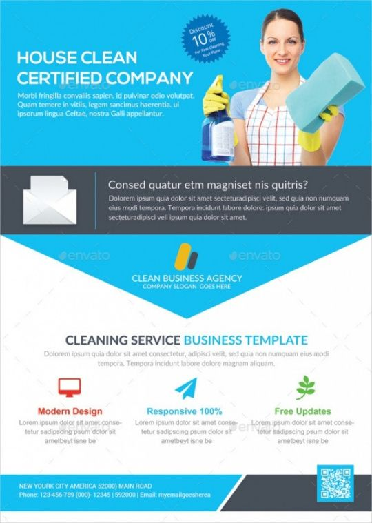 Printable Dry Cleaners Marketing Flyer Template Excel Sample