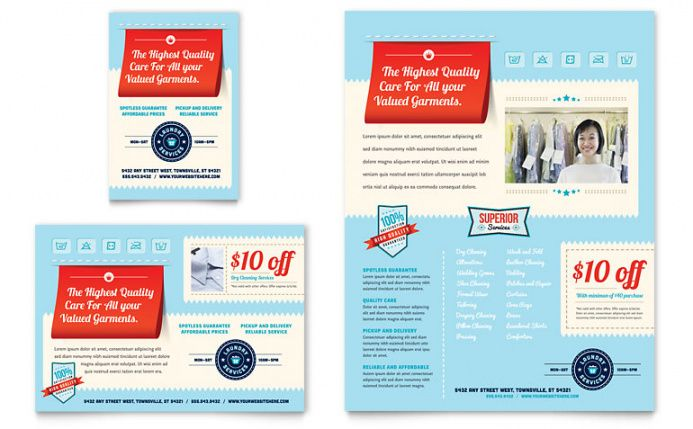Printable Dry Cleaners Marketing Flyer Template Pdf Example