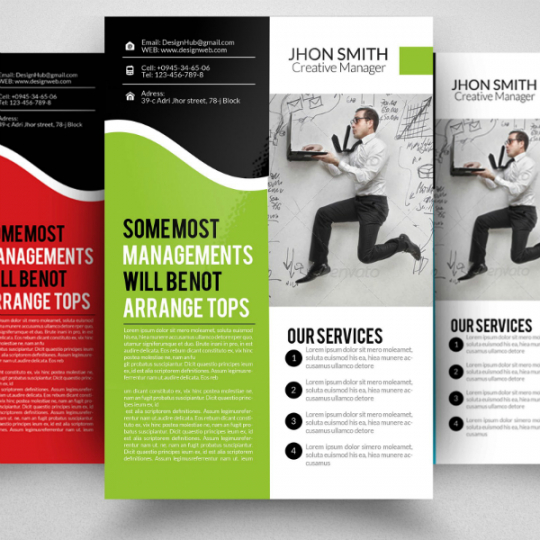 Printable Errand Service Flyer Template Word Example