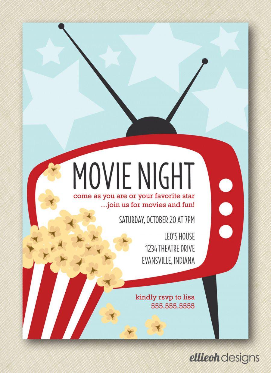 Printable Family Movie Night Flyer Template Doc Sample