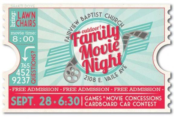 Printable Family Movie Night Flyer Template