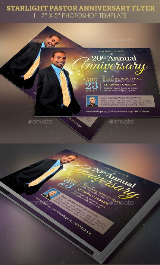 Printable Pastor Anniversary Flyer Template  Example
