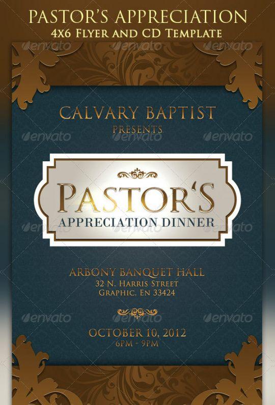 Printable Pastor Anniversary Flyer Template Pdf