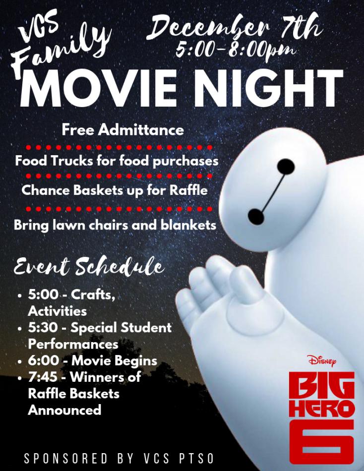 Printable School Movie Night Flyer Template Pdf Example