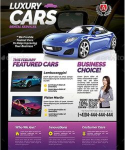 Professional Car For Sale Flyer Template  Sample
