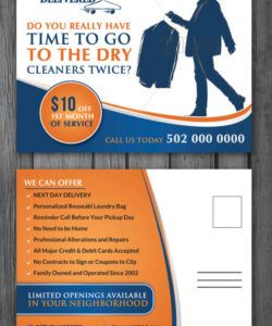 Professional Dry Cleaners Marketing Flyer Template Doc Example