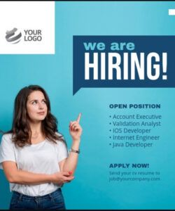 Professional Job Announcement Flyer Template Excel