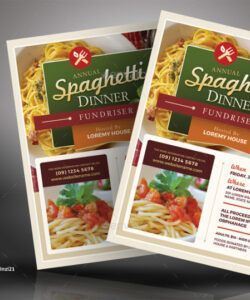 Professional Spaghetti Dinner Flyer Template Excel
