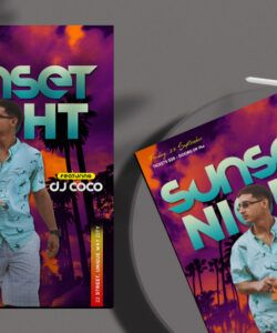 Summer Movie Night Flyer Template Doc Example