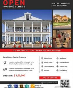 17 luxury real estate marketing examples & templates broker open house flyer template and sample