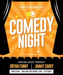 comedy night flyer by tokosatsu  graphicriver comedy show flyer template doc