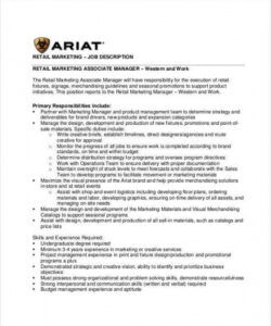 free 10 retail job description templates  pdf doc  free retail store manager job description template doc