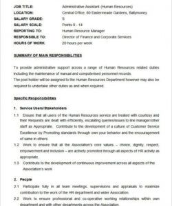 free 55 hr job description templates  hr templates  free administrative assistant job description template