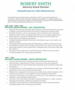 free advisory board member resume samples  qwikresume board member job description template doc