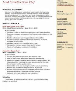 free executive sous chef resume samples  qwikresume sous chef job description template pdf