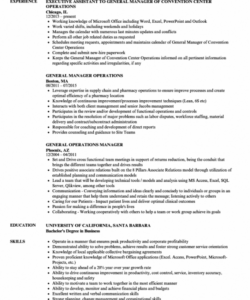 free general and operations manager job description samples generic job description template