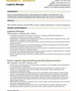 free logistics manager resume samples  qwikresume logistics manager job description template pdf