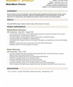 free music director resume samples  qwikresume worship leader job description template and sample