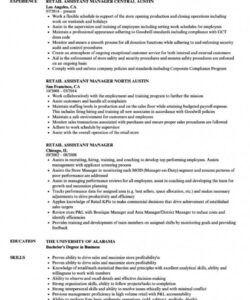 free retail assistant manager resume samples velvet jobs retail store manager job description template