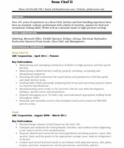 free sous chef resume samples  qwikresume sous chef job description template and sample