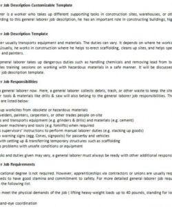 general laborer job description customizable template generic job description template and sample
