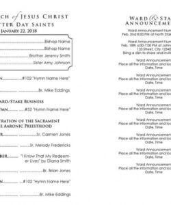 lds church program template editable with watercolor  etsy worship leader job description template pdf