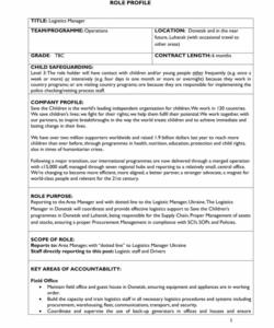 logistic operation job description  the cover letter for logistics manager job description template doc